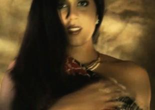 brunette dance goddess